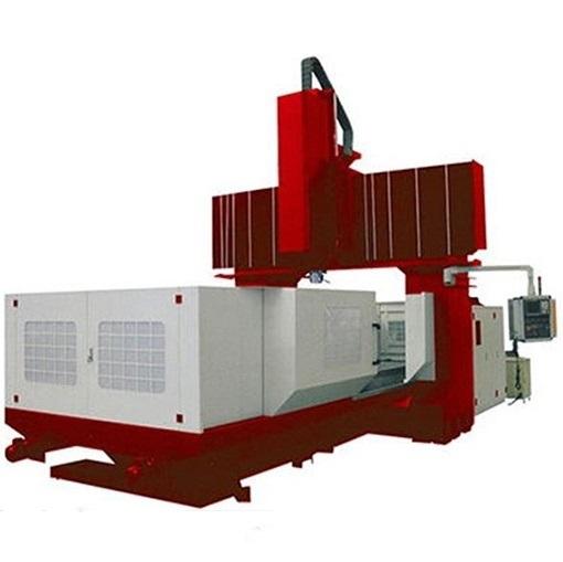 在结构上,这种工作台移动式数控龙门镗铣机床的龙门形式都采用